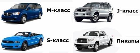 Другие классы автомобилей