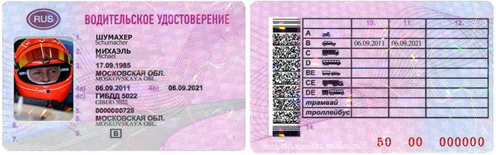 Расшифровка категорий водительского удостоверения нового образца